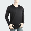 Men's V Neck Full Sleeves T-Shirt - Black