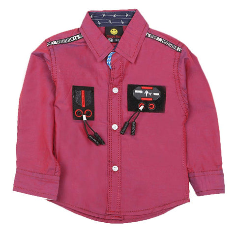 Boys Casual Shirt - Dark Pink
