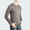 Men's Round Neck Full Sleeves T-Shirt - Brown