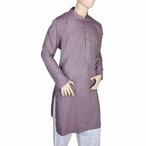 Mashriq Slim Fit Kurta For Men - Purple