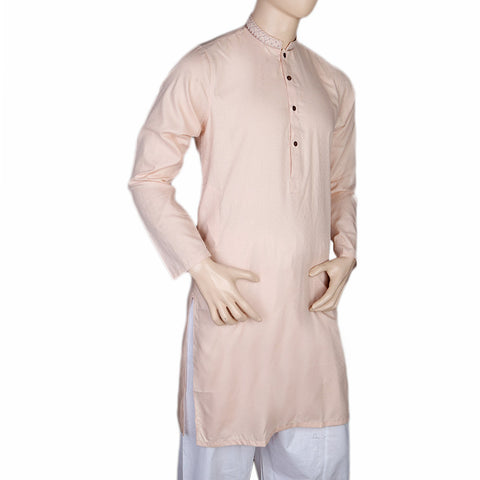 Mashriq EMB Kurta For Men - T.Pink