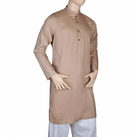 Mashriq EMB Kurta For Men - Beige