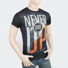 Men's Sublimation Printed Half Sleeves T-Shirt - Black