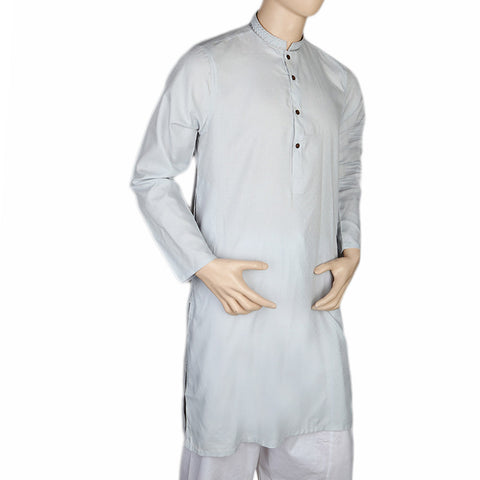Mashriq EMB Kurta For Men - Light Blue