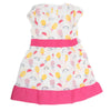 Girls Cotton Frock - Pink
