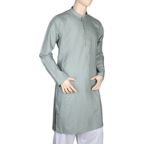 Mashriq Slim Fit Kurta For Men - Sea Green