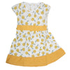 Girls Cotton Frock - Yellow