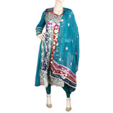 Bridal Dress Embroidered Brocia Chiffon 3 Piece Semi-Stitched Suit - Green