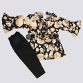 Newborn Girl Suit Full Sleeves - Black