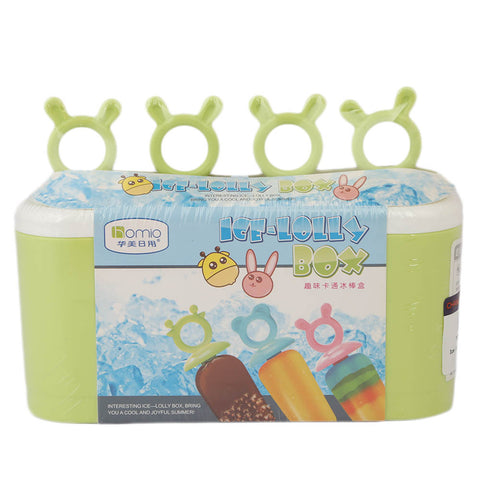 Ice Lolly Box 4 Pcs Set (8355) - Green