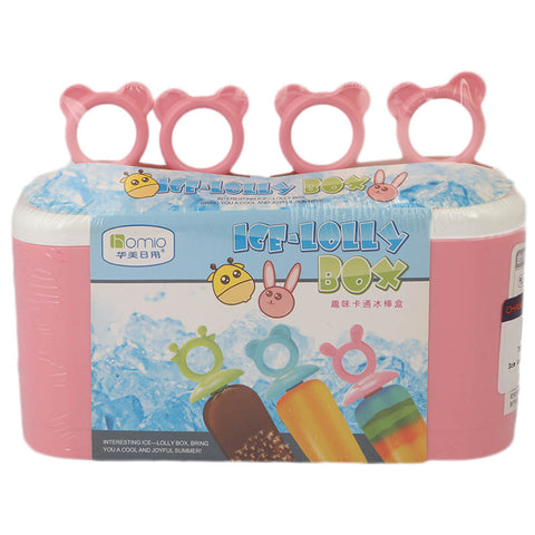 Ice Lolly Box 4 Pcs Set (8355) - Pink