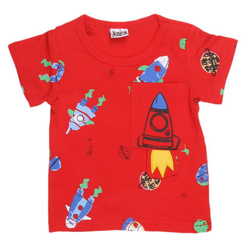 Newborn Boys T-Shirt - Red - test-store-for-chase-value