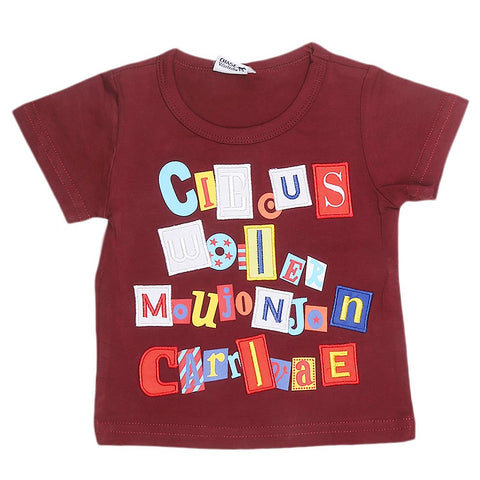 Newborn Boys T-Shirt - Maroon - test-store-for-chase-value