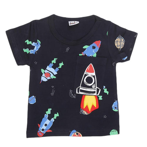 Newborn Boys T-Shirt - Navy Blue - test-store-for-chase-value