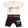 Boys Half Sleeves Suit - Off White
