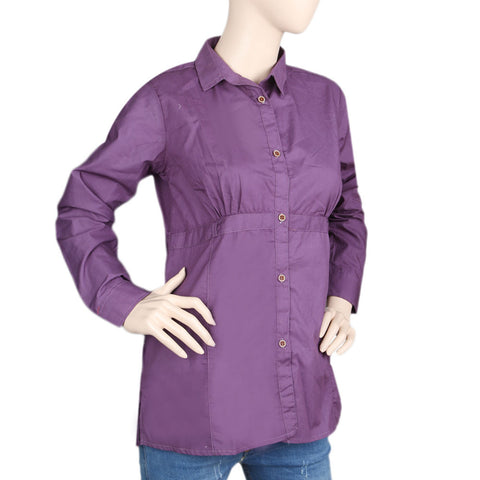 Women's Full Sleeves Casual Shirt - Purple