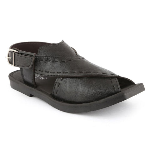 Men's Peshawari Sandals (P003) - Black - test-store-for-chase-value