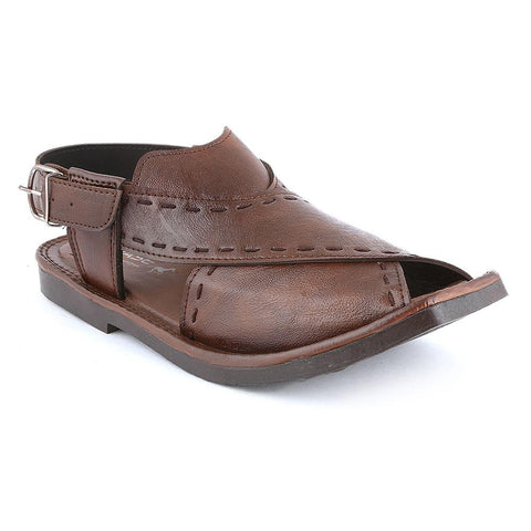 Men's Peshawari Sandals (P003) - Coffee - test-store-for-chase-value
