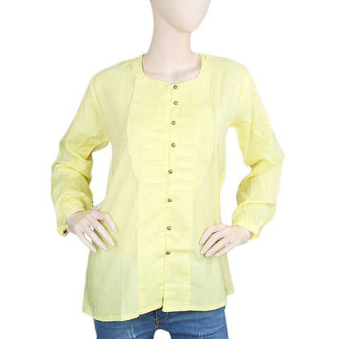 Women's Full Sleeves Western Top - Yellow