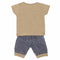 Newborn Boys Half Sleeves Suit - Beige