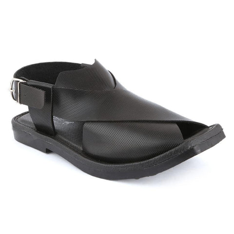 Men's Peshawari Sandals (P001) - Black - test-store-for-chase-value