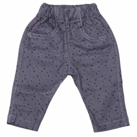 Newborn Baby Cotton Pant - Grey