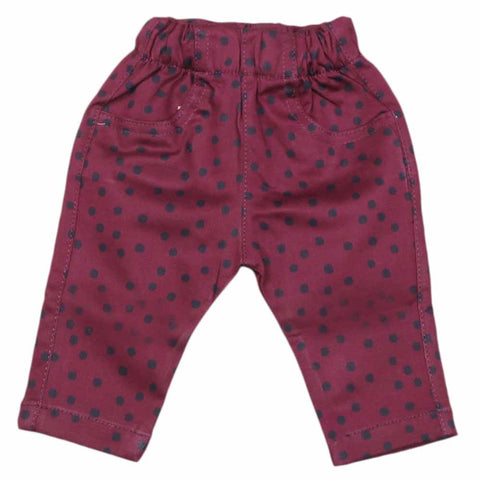 Newborn Baby Cotton Pant - Dark Purple