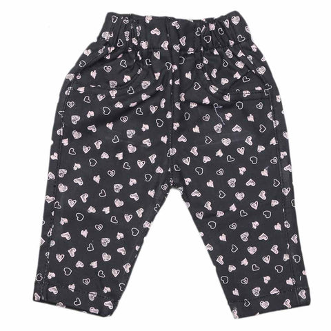 Newborn Baby Cotton Pant - Black