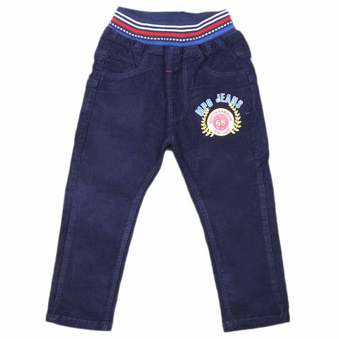 Boys Corduroy Pant - Navy Blue