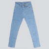 Girls Plain Denim Pant - Light Blue