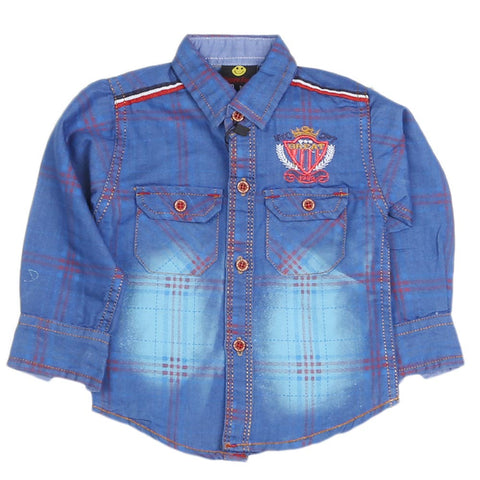 Boys Casual Shirt - Royal Blue