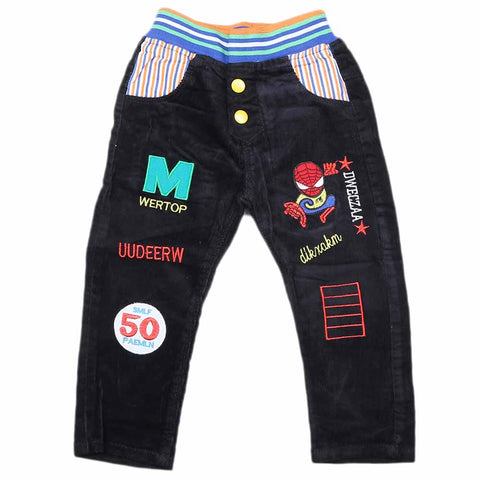 Boys Corduroy Pant - Black