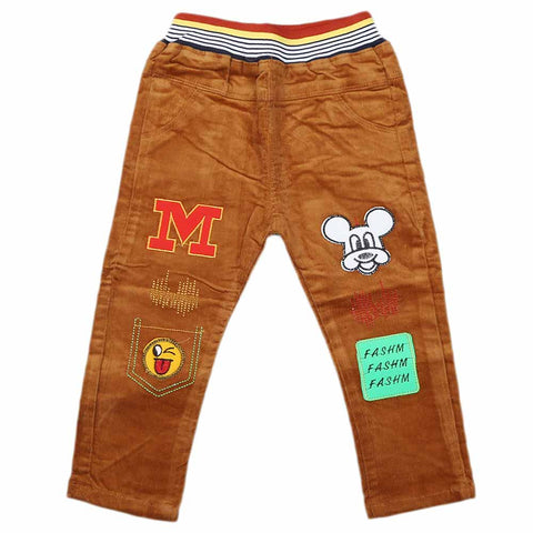 Boys Corduroy Pant - Brown