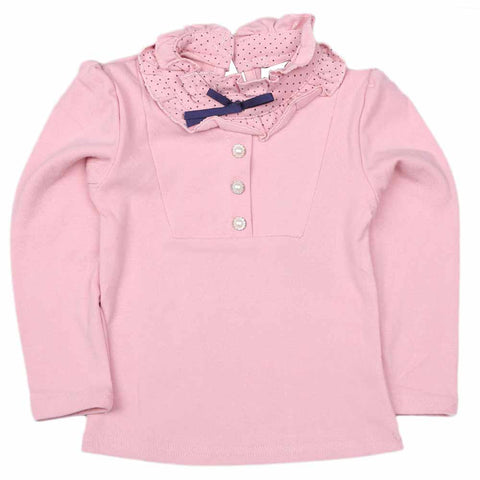 Girls Full Sleeves T Shirt - Peach