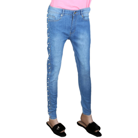 Women's Pearl Denim Pant - Light Blue