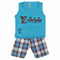 Boys Sando Suit - Blue