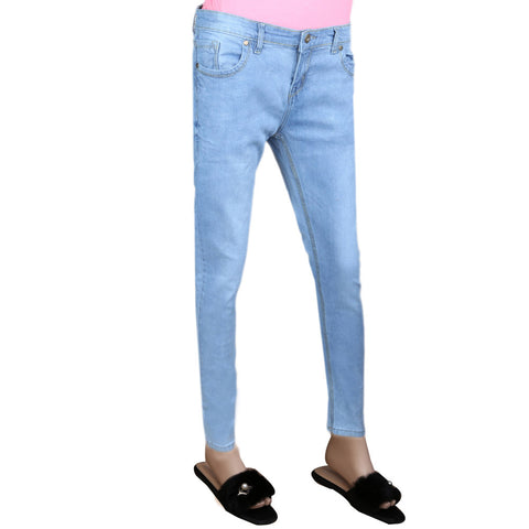 Women's Denim Pant - Light Blue
