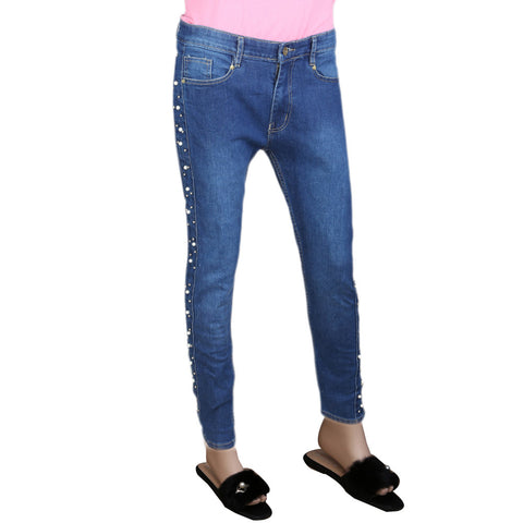 Women's Pearl Denim Pant - Blue