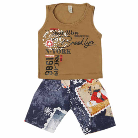 Boys Sando Suit - Brown