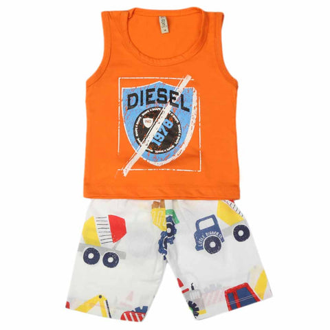 Boys Sando Suit - Orange