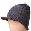 Men's Woolen Cap - Grey