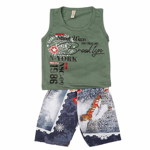 Boys Sando Suit - Green