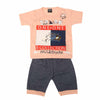 Boys Half Sleeves Suit 1311 - Peach