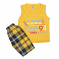 Boys Sando Suit - Yellow