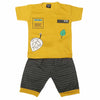 Boys Half Sleeves Suit 1305 - Mustard