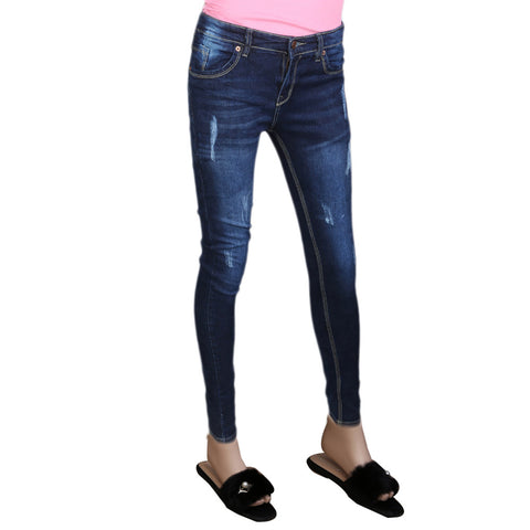 Women's Denim Pant - Dark Blue