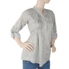 Women's Western Top With Front Pentax - Light Grey