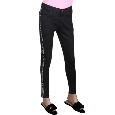 Women's Denim Pant - Black