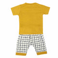 Boys Half Sleeves Suit 1828 - Mustard