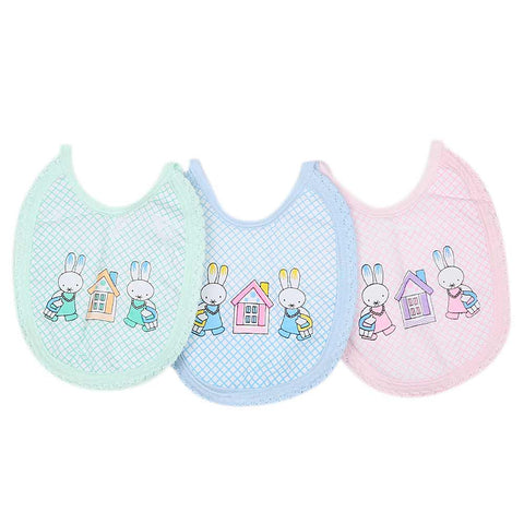 Newborn 3Pc Bib Foam - Multi